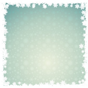 Abstract background with snowy border