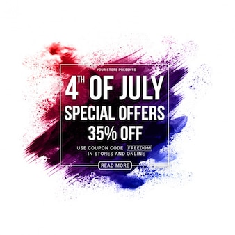 Abstract background with special offers for independence day