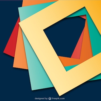 Abstract background with square frames
