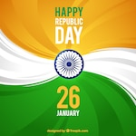 Abstract background with the colors of the indian flag