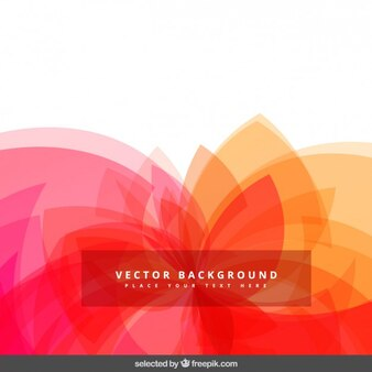 Abstract background with translucent shapes
