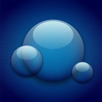 透明な円で抽象的な背景。