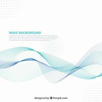 Abstract background with wavy forms and dots