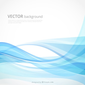 Abstract background with wavy forms in blue tones