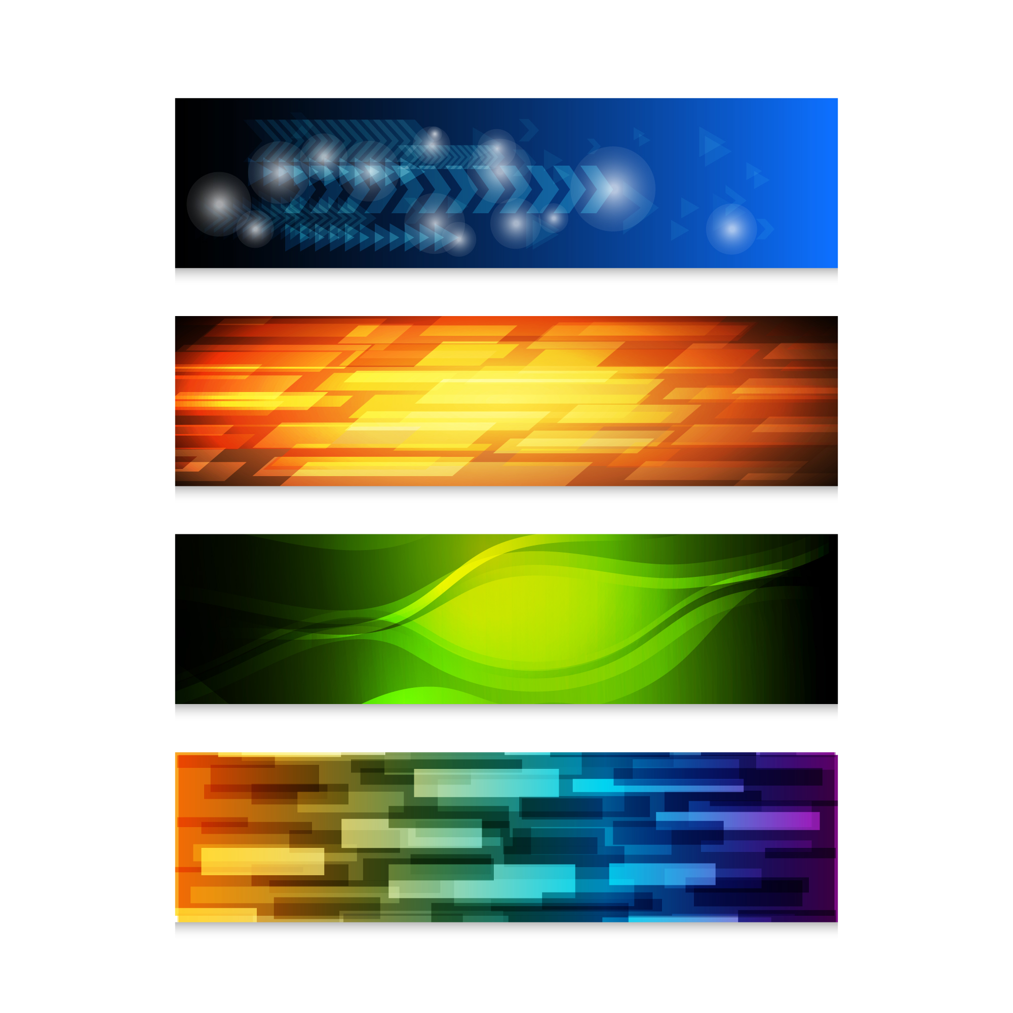 Abstract banners collection