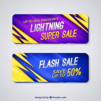 Abstract banners for super offers