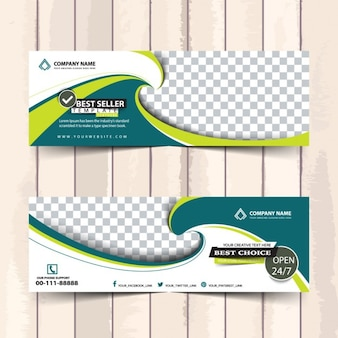 Abstract banners template for business