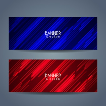 Abstract banners with vivid colors