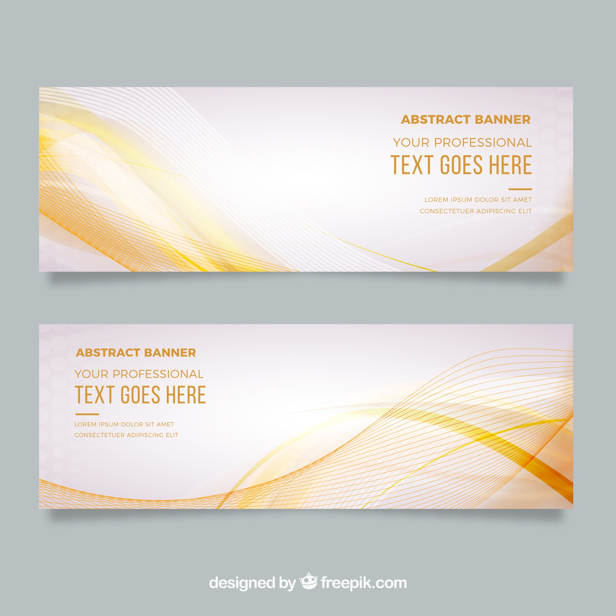 Abstract banners with waves