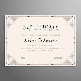 Abstract beautiful certificate design