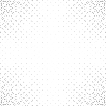 Abstract black and white circle pattern