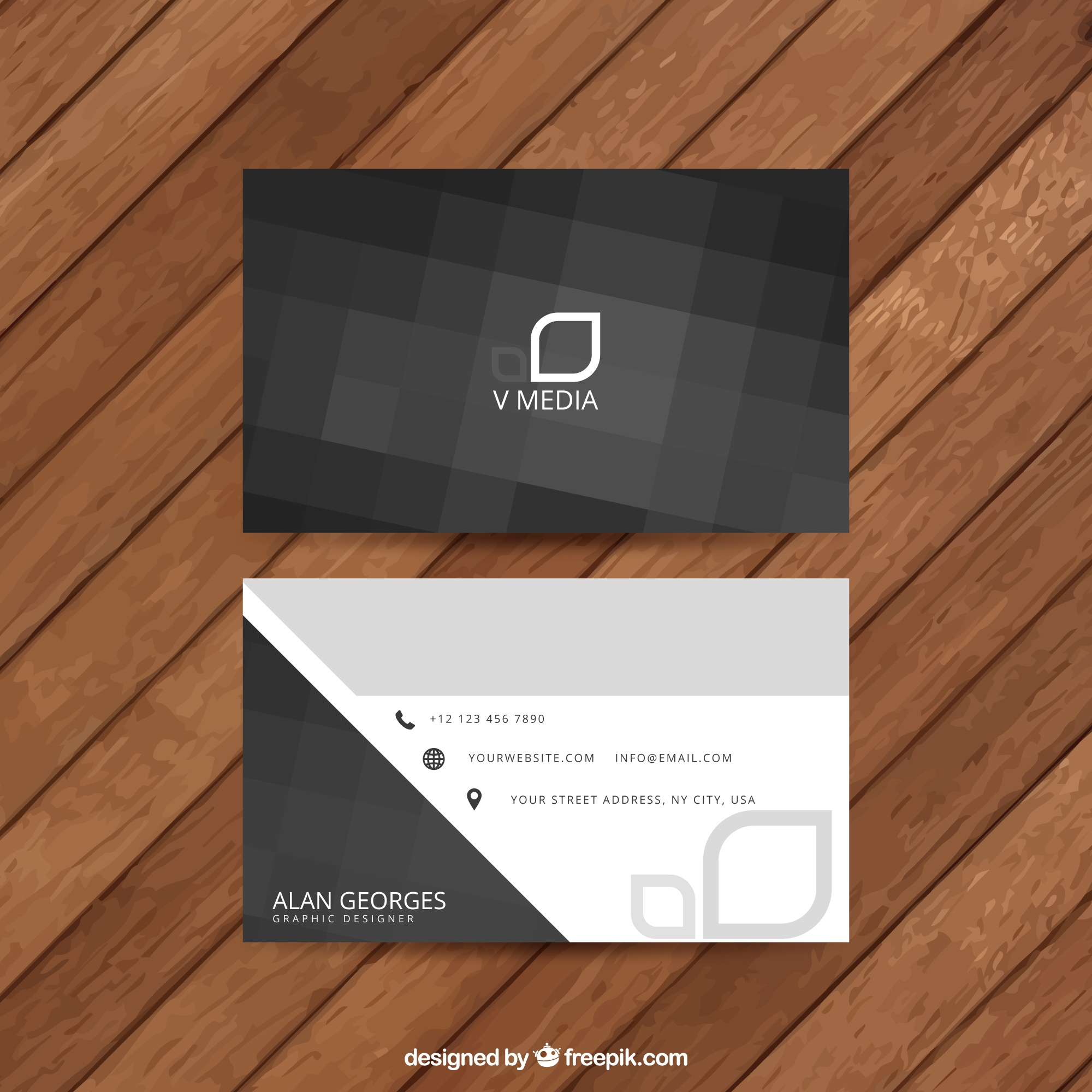 Abstract black business card