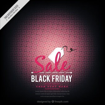 Abstract black friday background with a label
