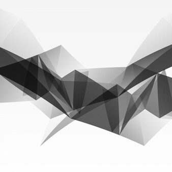 Abstract black polygonal background