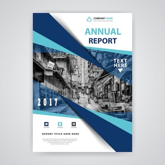 Abstract blue annual report