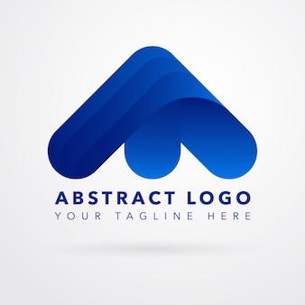 Abstract Blue Arrow Logo