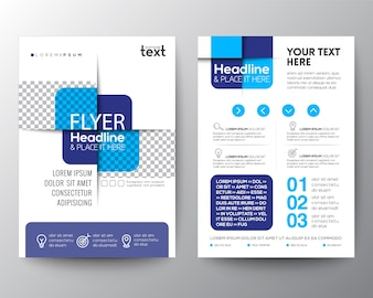 Abstract blue business brochure design