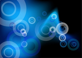 abstract blue circles vector background