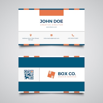 Abstract blue corporate business card template