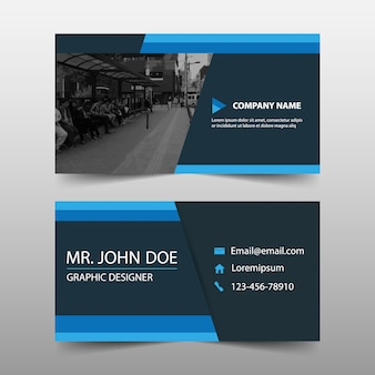 Abstract blue corporate business card