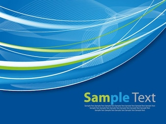 abstract blue curve waves vector background