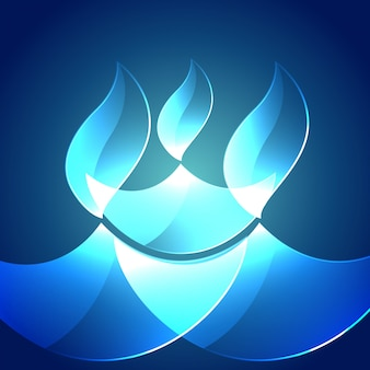 Abstract blue design for diwali festival