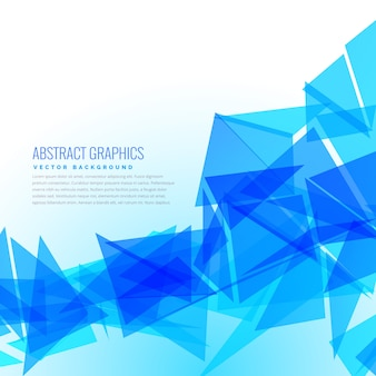 Abstract blue geometrical triangle background