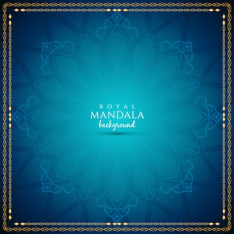 Abstract blue royal mandala background