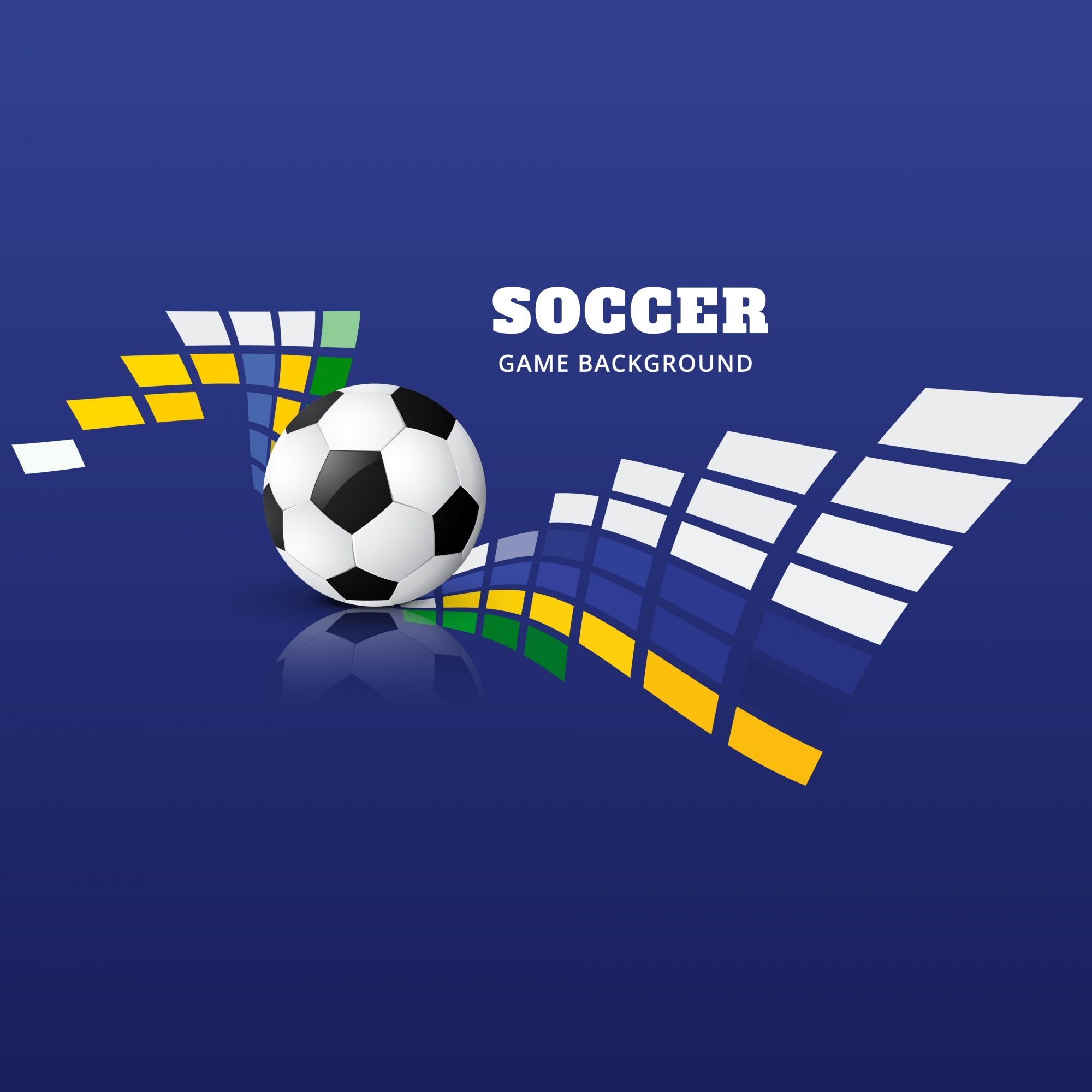 Abstract blue soccer design