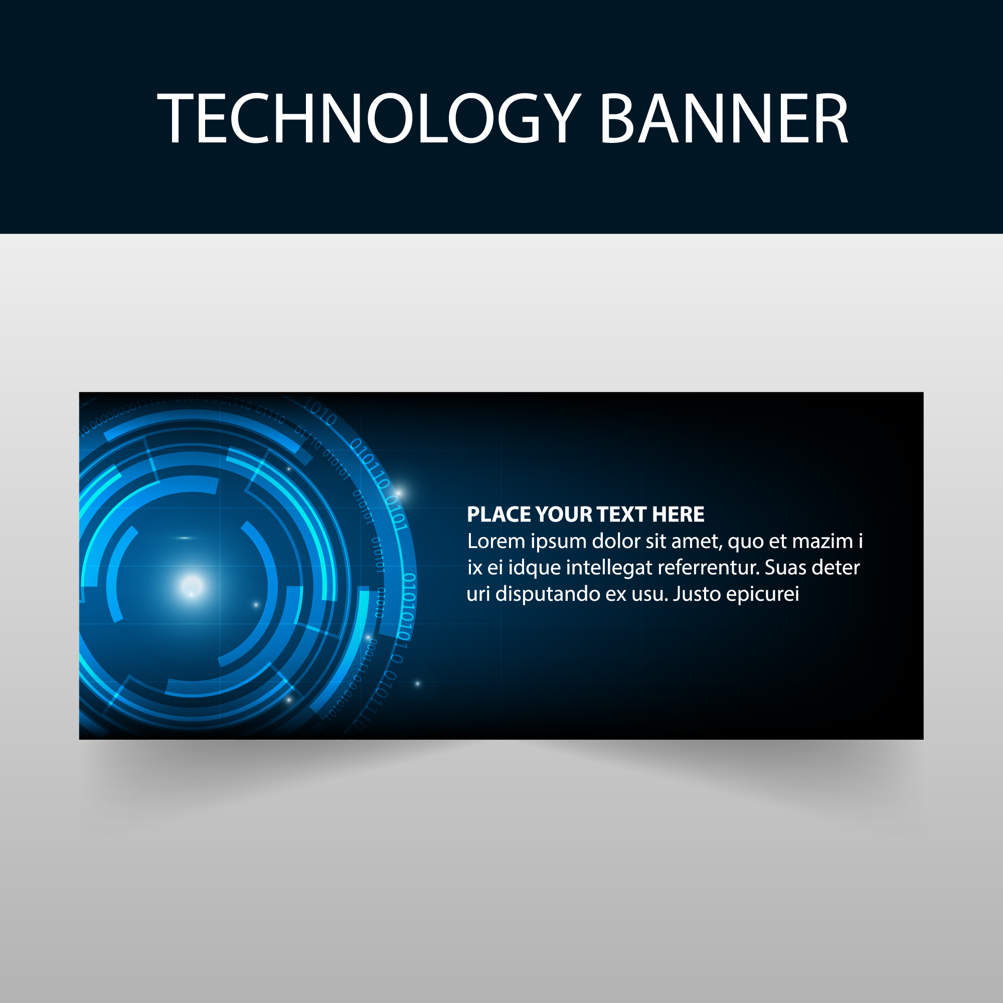 Abstract blue technology banner