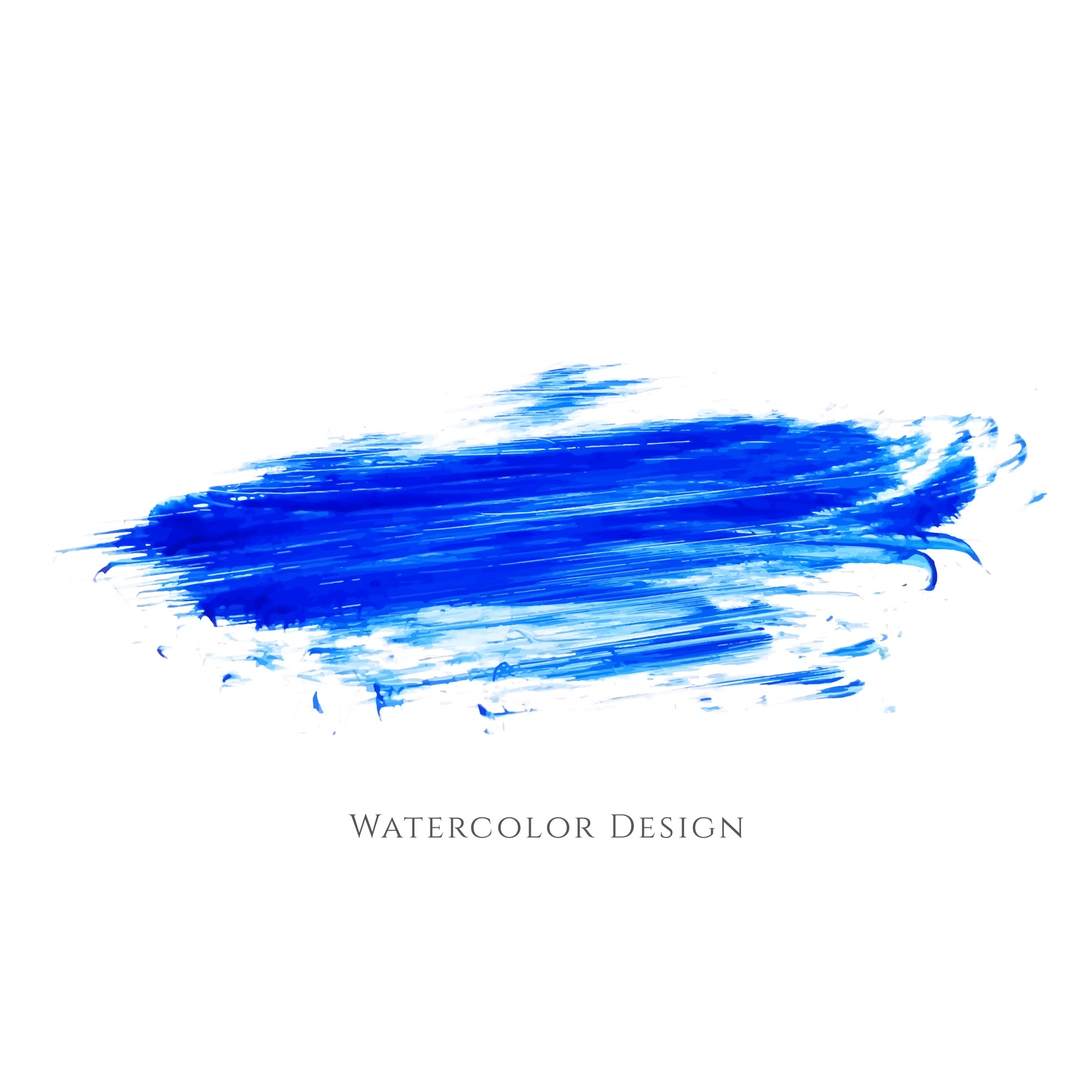 Abstract blue watercolor brush design