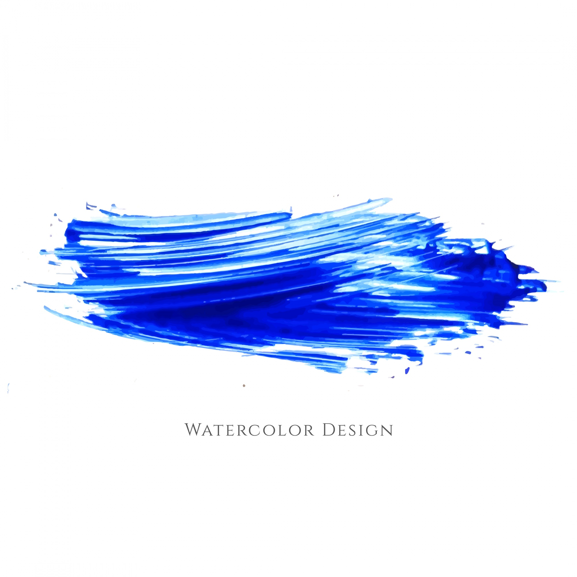 Abstract blue watercolor brush