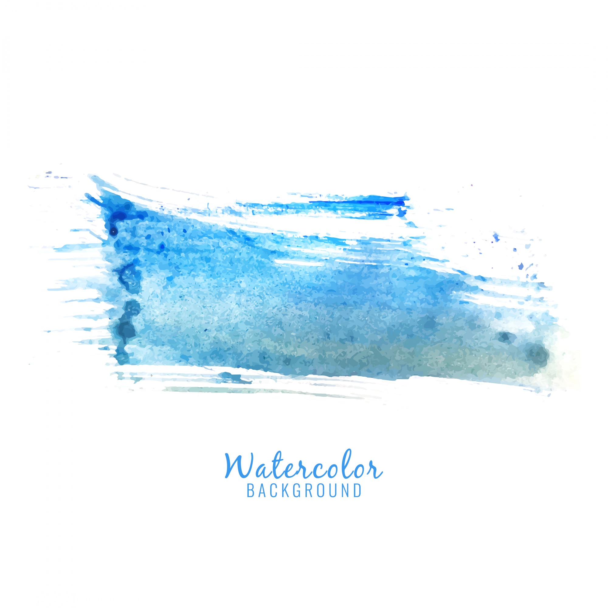 Abstract blue watercolor splash design background