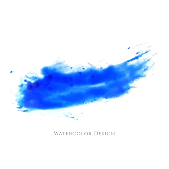 Abstract blue watercolor splash design
