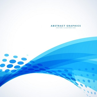 Abstract blue wavy background with dots effect