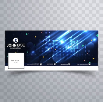 Abstract bright facebook cover