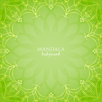 Abstract bright green color mandala background