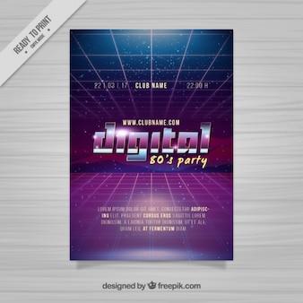 Abstract brochure of eighties design