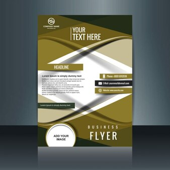 Abstract brochure template with waves