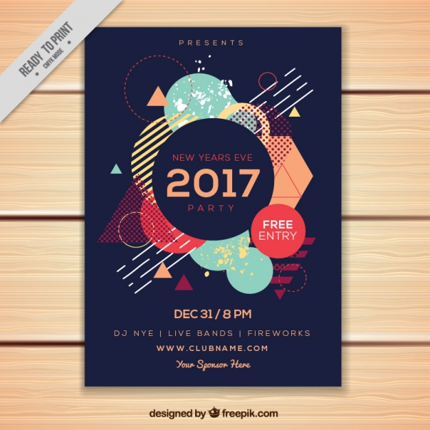 Abstract brochure with polygonal shapes