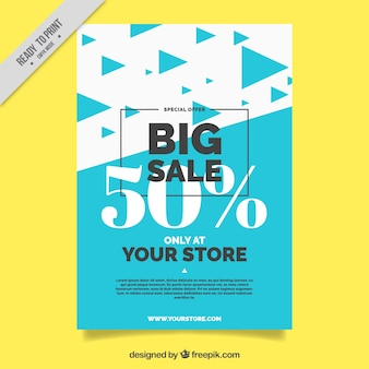 Abstract brochure with sale triangles