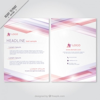 Abstract brochure with triangle logo