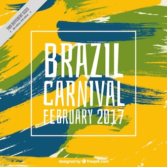 Abstract  brushstrokes background of brazilian carnival
