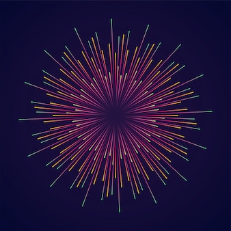 Abstract burst effect with radial lines.