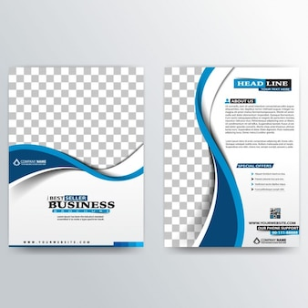 抽象ビジネスパンフレットのテンプレート