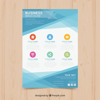 Abstract business brochure with colorful icons