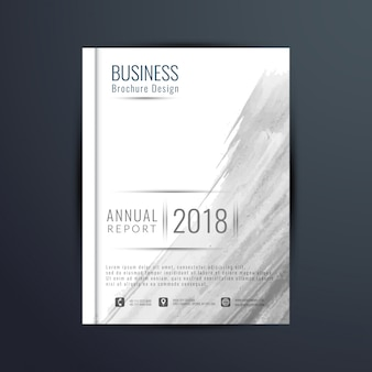 Abstract business brochure with grey watercolor
