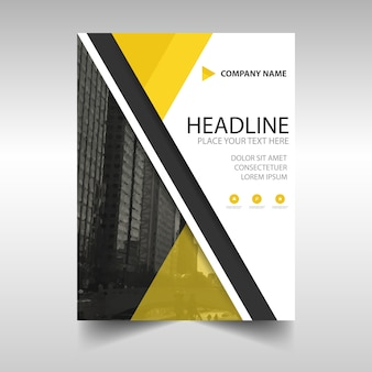 Abstract business brochure with yellow details