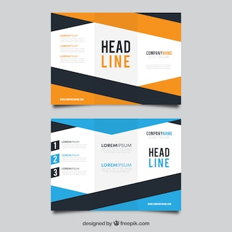 Abstract business brochures with stripes