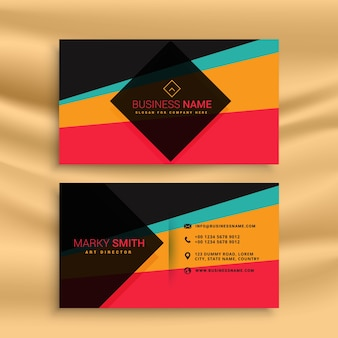 Abstract business card with different colors
